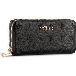 Duży Portfel Damski NOBO - NPUR-D1021-C020 Czarny. Czarne portfele damskie Nobo, ze skóry ekologicznej. W wyprzedaży za 89.00 zł.