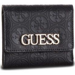 Duży Portfel Damski GUESS - SWSH66 91430 BLA. Czarne portfele damskie Guess, z aplikacjami, ze skóry ekologicznej. Za 259.00 zł.