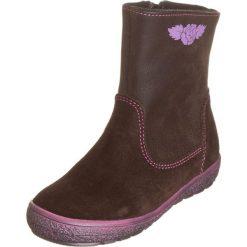 Skórzane botki w kolorze brązowym. Botki dziewczęce Zimowe obuwie dla dzieci. W wyprzedaży za 147.95 zł.