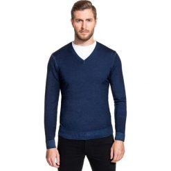 Sweter MARTINO SWGS000093. Białe swetry przez głowę męskie Giacomo Conti, na lato, z wełny, z klasycznym kołnierzykiem. Za 229.00 zł.