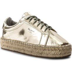 Espadryle PEPE JEANS - Andy Metal PLS10357 Gold 099. Żółte espadryle damskie Pepe Jeans, z jeansu. W wyprzedaży za 179.00 zł.