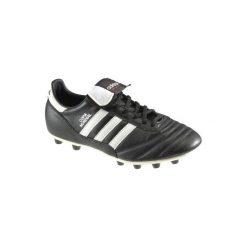 Buty do piłki nożnej Copa Mundial FG korki. Czarne buty sportowe męskie Adidas, ze skóry. Za 389.99 zł.