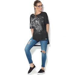 Colour Pleasure Koszulka CP-033 184 czarna r. uniwersalny. T-shirty damskie Colour Pleasure. Za 76.57 zł.