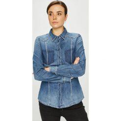 Guess Jeans - Koszula Lalima. Szare koszule damskie Guess Jeans, z bawełny, casualowe, z klasycznym kołnierzykiem, z długim rękawem. W wyprzedaży za 369.90 zł.