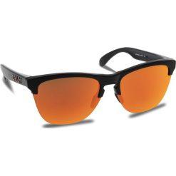 Okulary przeciwsłoneczne OAKLEY - Frogskins Lite OO9374-0463 Matte Black/Prizm Ruby. Brązowe okulary przeciwsłoneczne damskie Oakley. W wyprzedaży za 449.00 zł.