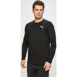 Puma - Longsleeve. Czarne bluzki z długim rękawem męskie Puma, z bawełny, z okrągłym kołnierzem. W wyprzedaży za 99.90 zł.