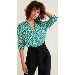 Mango - Koszula. Szare koszule damskie Mango, z materiału, casualowe, z długim rękawem. Za 89.90 zł.