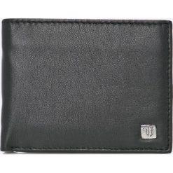Trussardi Jeans - Portfel skórzany. Czarne portfele męskie TRUSSARDI JEANS, z jeansu. W wyprzedaży za 259.90 zł.