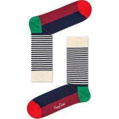 Happy Socks - Skarpety Half Stripe Christmas. Szare skarpety męskie Happy Socks. W wyprzedaży za 29.90 zł.