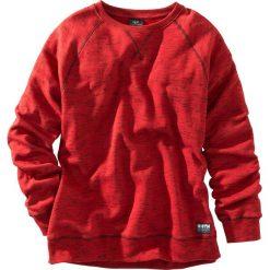 Bluza z reglanowymi rękawami bonprix czerwony melanż. Czerwone bluzy męskie bonprix, melanż. Za 69.99 zł.