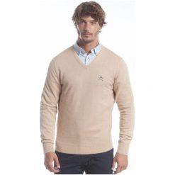 Polo Club C.H..A Sweter Męski M Beżowy. Brązowe swetry przez głowę męskie Polo Club C.H..A, dekolt w kształcie v. W wyprzedaży za 259.00 zł.