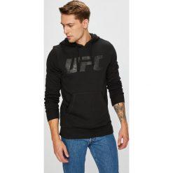 Reebok - Bluza. Czarne bluzy męskie Reebok, z nadrukiem, z bawełny. W wyprzedaży za 219.90 zł.
