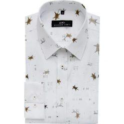 Koszula MICHELE KDWE000136. Białe koszule męskie Giacomo Conti, z bawełny, z klasycznym kołnierzykiem. Za 229.00 zł.
