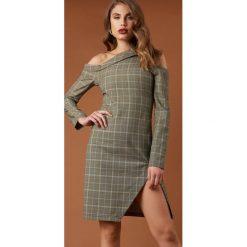NA-KD Trend Sukienka midi z wycięciami - Green,Multicolor. Zielone sukienki damskie NA-KD Trend. Za 242.95 zł.