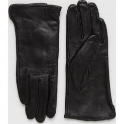 Answear - Rękawiczki skórzane. Czerwone rękawiczki damskie ANSWEAR, z materiału. Za 89.90 zł.