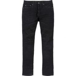 Dżinsy z połyskującą powłoką Slim Fit Straight bonprix czarny denim. Czarne jeansy męskie bonprix. Za 139.99 zł.