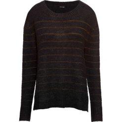 Sweter z metaliczną nitką bonprix czarno-złocisty. Czarne swetry damskie bonprix. Za 109.99 zł.