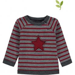 Bluza w kolorze szaro-czerwonym. Czerwone bluzy dla dziewczynek bellybutton, z aplikacjami, z bawełny. W wyprzedaży za 42.95 zł.