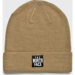 The North Face - Czapka. Brązowe czapki i kapelusze damskie The North Face, z dzianiny. W wyprzedaży za 79.90 zł.