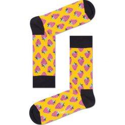 Happy Socks - Skarpetki Fruit Gift Box (4-pack). Pomarańczowe skarpety damskie Happy Socks, z bawełny. W wyprzedaży za 99.90 zł.