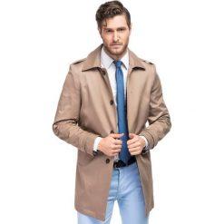Płaszcz ARTURO PSES000062. Niebieskie płaszcze męskie Giacomo Conti, moro, z bawełny. Za 599.00 zł.