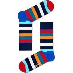 Happy Socks - Skarpety Stripes. Szare skarpety męskie Happy Socks, z bawełny. W wyprzedaży za 29.90 zł.