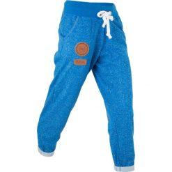 Spodnie sportowe, długość 7/8 bonprix lazurowy melanż. Spodnie sportowe damskie bonprix, z aplikacjami, ze skóry. Za 49.99 zł.