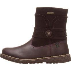 Skórzane botki w kolorze brązowym. Botki dziewczęce Zimowe obuwie dla dzieci. W wyprzedaży za 172.95 zł.