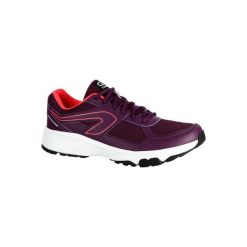 Buty do biegania RUN CUSHION GRIP damskie. Fioletowe obuwie sportowe damskie KALENJI. W wyprzedaży za 69.99 zł.
