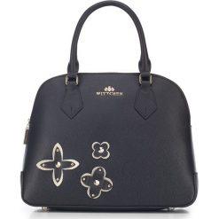 Torebka damska 87-4E-436-1. Czarne torebki do ręki damskie Wittchen, w kwiaty. Za 659.00 zł.