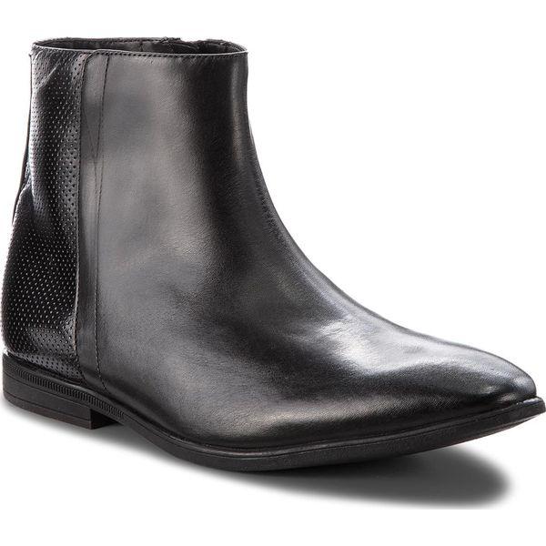 44d606ee3692b Kozaki CLARKS - Bampton Hi 261354047 Black Leather - Kozaki męskie ...