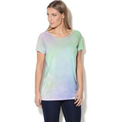 Colour Pleasure Koszulka CP-034 199 zielono-fioletowa r. XL/XXL. T-shirty damskie Colour Pleasure. Za 70.35 zł.