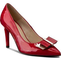 Szpilki SERGIO BARDI - Angela FW127211217SG 308. Czerwone szpilki damskie Sergio Bardi, z lakierowanej skóry. W wyprzedaży za 209.00 zł.