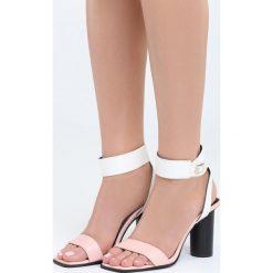 Różowo-Białe Sandały Stay Young. Sandały damskie marki bonprix. Za 79.99 zł.