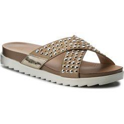 Klapki LIU JO - Sandalo Footbed S18139 T9474 Soia 21404. Brązowe klapki damskie Liu Jo, z materiału. W wyprzedaży za 309.00 zł.
