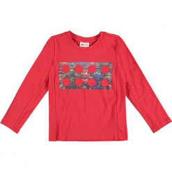 """Koszulka """"Thomas 717"""" w kolorze czerwonym. Czerwone t-shirty dla chłopców marki Lego Wear Fashion, z nadrukiem, z długim rękawem. W wyprzedaży za 59.95 zł."""