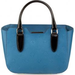 Torebka damska 85-4E-004-Z. Niebieskie torebki do ręki damskie Wittchen, w paski. Za 495.00 zł.