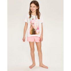 Piżama dwuczęściowa z szortami - Biały. Białe bielizna dla chłopców Reserved. Za 59.99 zł.