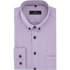 Koszula MICHELE 2 16-04-18-K. Fioletowe koszule męskie Giacomo Conti, z bawełny, button down, z długim rękawem. Za 169.00 zł.