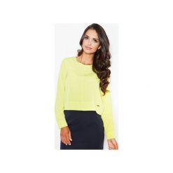 Bluzka M395imonka. Zielone bluzki damskie Figl, eleganckie, z długim rękawem. Za 99.00 zł.