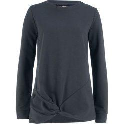Bluza z przewiązaniem bonprix czarny. Bluzy damskie marki KALENJI. Za 49.99 zł.