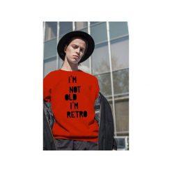 Czerwona męska bluza raglan i'm not old. Czerwone bluzy męskie One mug a day, z nadrukiem, z bawełny. Za 129.00 zł.