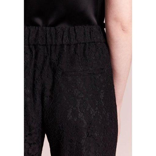 a3843104 J.CREW EASY PANT IN LACE Spodnie materiałowe black