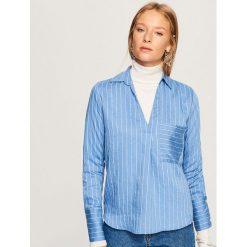 Koszula w paski - Niebieski. Niebieskie koszule damskie Reserved, w paski. Za 69.99 zł.