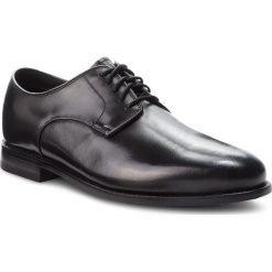 Półbuty CLARKS - Ellis Leon 261291357 Black Leather. Czarne eleganckie półbuty Clarks, z materiału. W wyprzedaży za 439.00 zł.