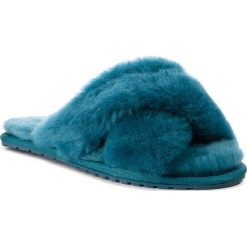 Kapcie EMU AUSTRALIA - Mayberry W11573 Teal. Niebieskie kapcie damskie Emu Australia, ze skóry. Za 259.00 zł.