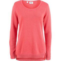 Sweter z rozcięciami po bokach bonprix koralowy. Swetry damskie marki bonprix. Za 32.99 zł.