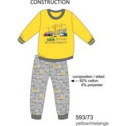 Piżama chłopięca DR 593/73 Construction Żółta r. 116. Żółte bielizna dla chłopców Cornette. Za 49.87 zł.