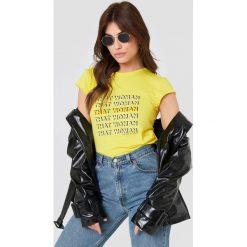 NA-KD T-shirt That Woman - Yellow. Żółte t-shirty damskie NA-KD, z nadrukiem. Za 72.95 zł.