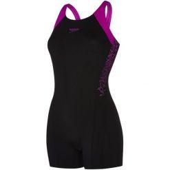 Speedo Strój Kąpielowy Boom Splice Legsuit Black/Purple 36. Czarne kostiumy jednoczęściowe damskie Speedo. Za 209.00 zł.